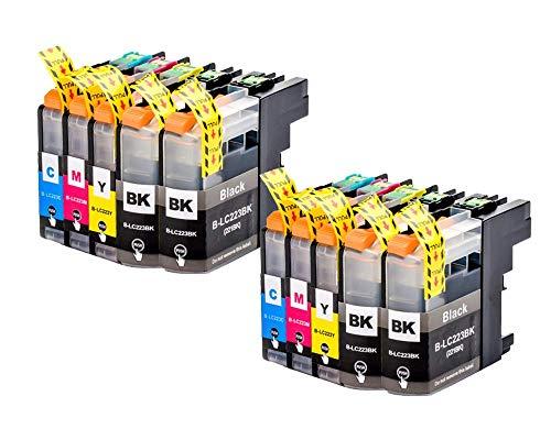 10 Druckerpatronen für Brother LC223 Brother MFC-J4620 DW MFC-J4420 DW MFC-J4625 DW MFC-J5625 DW MFC-J5720 DW MFC-J5320 DW