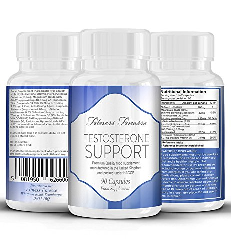 Testosterone Support for Men 90 Capsules Testosterone Supplement