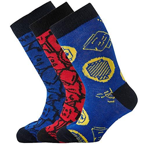 LEGO Jungen CM-50428-3 Pack Socken, Mehrfarbig (Dark Navy 590), 26 (Herstellergröße: 26/27)