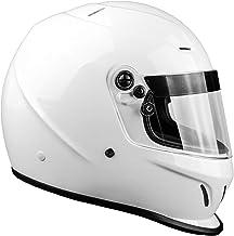 Snell SA2015 Approved Full Face Racing Helmet (White, XXL)
