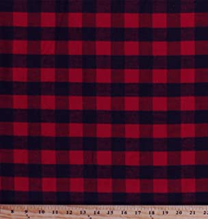 Flannel Red and Black Buffalo Plaid 1