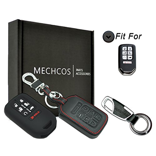 MECHCOS Compatible with fit for 2018 Honda Odyssey Elite EX EX-L LX Touring 7buttons Leather Keyless Entry Remote Control Smart Key Fob Cover Pouch Bag Jacket Case Protector Shell