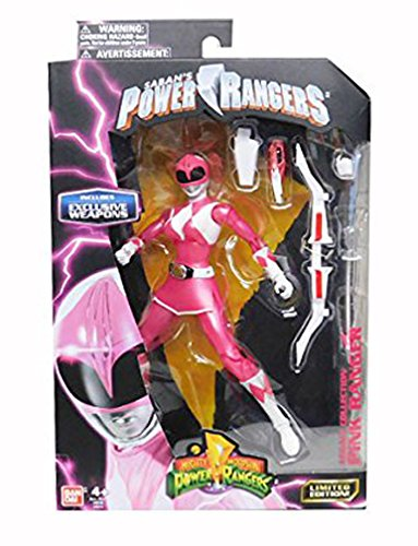 Mighty Morphin Power Rangers Legacy Collection Limited Edition 6.5 Inch Pink Ranger with Metallic Finish and Exclusive Weapons