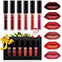 6-Pieces Luckyfine Waterproof Lip Gloss Matte Liquid Lipstick Set