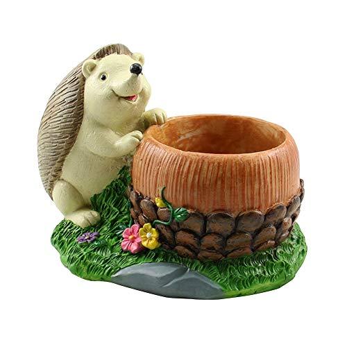 Rishx Creative Animal en Forme De Dessin Animé Pot De Fleur Mignon Hérisson Vase Pot Décoration de La Maison pour Plantes Succulentes Cactus