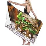 Night-Shop Burger Turtle Toalla de Microfibra para baño - Toallas de Playa para Hombres Mujeres Niños Hotel SPA Toallas de baño