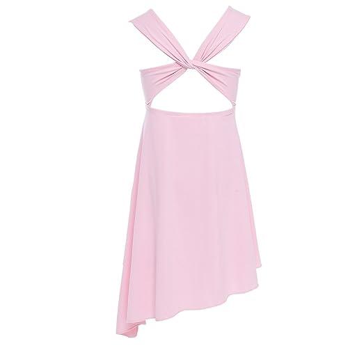 CHICTRY Kids Girl s Lyrical Dance Dress Criss-cross Back Irregular High-low  Skirt Ballroom 442109406