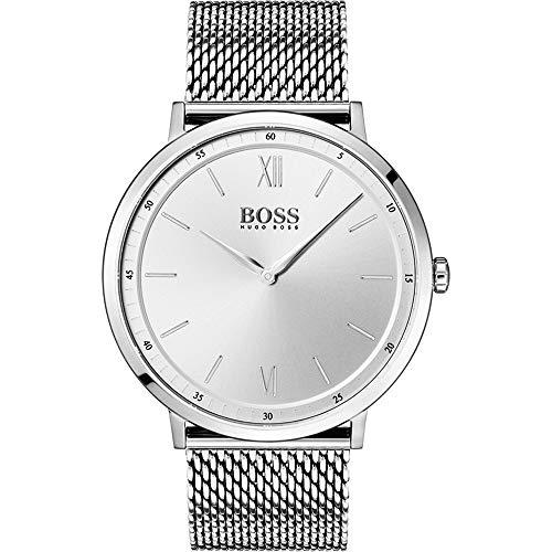 Hugo Boss Herren Analog Quarz Uhr mit Edelstahl Armband 1513650
