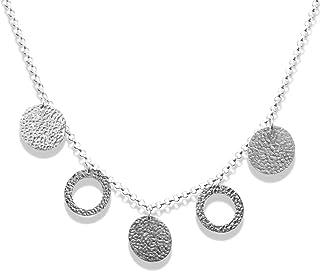 Collana martellata in argento