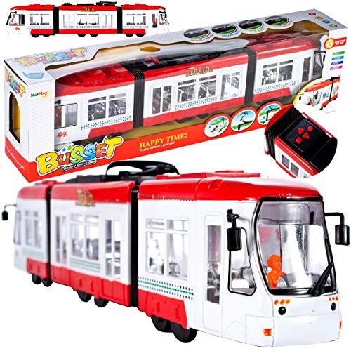 MalPlay Straßenbahn | mit Licht und Sound | ab 3 Jahren | Geschenk für Kinder und Erwachsene