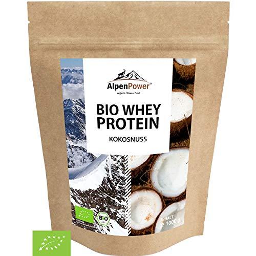 ALPENPOWER | BIO WHEY Protein Kokosnuss | Ohne Zusatzstoffe | 100% natürliche Zutaten | Bio-Milch aus Bayern und Österreich | Superfood Kokosnuss | Hochwertiges Eiweißpulver | 1000 g
