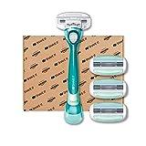 Shave It, 3-Klingen-Damenrasierer mit Griff und 4 Klingenköpfen