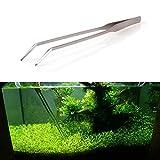 27cm acquario piante vive serbatoio curve forbici in acciaio inox pinzette tool # 25042