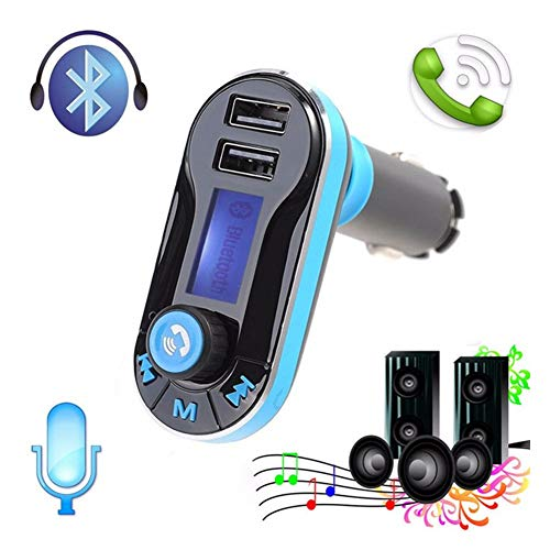 Transmisor FM inalámbrico Bluetooth para Coche, Reproductor de música MP3 con Puerto USB