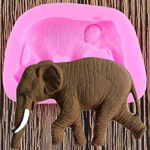 FGHHT Elephant Silicone Mold Animals Polymer Clay Molds Candy Chocolate Baking Mould Cupcake Topper Cake Decorating Tools