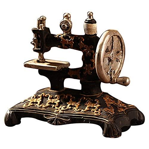 Esculturas Estatuas Modelo De Máquina De Coser Retro Clásico Adornos Muebles De Resina Máquina De Coser Antigua Artesanía En Miniatura Bar Café Decoración del Hogar Regalos Regalo