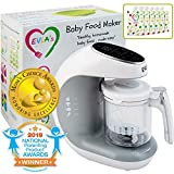 Baby Food Maker | Baby Food Processor Blender Grinder Steamer | Cooks & Blends Healthy Homemade Baby...
