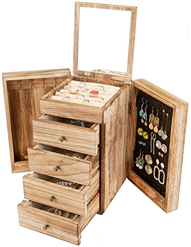 Meangood Jewelry Box Wood for Wo...