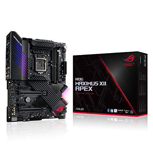 ASUS ROG Maximus XII Apex (WiFi 6) Z490 LGA 1200 (Intel 10th Gen) ATX Gaming Motherboard (16 Power Stages, DDR4 5000, Intel 2.5Gb LAN, DIMM.2, USB 3.2 Gen 2 and Aura Sync RGB)