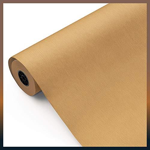Rollo papel Kraft embalaje 100 METROS [verjurado, 1ª CALIDAD] marrón. MULTIUSO: papel de regalo, industria, envolver, patronaje. Bobina grande papel estraza [FP Fiesta Paper]