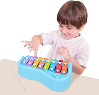 BUDDYFUN 2 in 1 Baby Piano Toy Xylophone for Kids, Preschool Educational Toddlers Development Musical Instruments, Boys Gi...