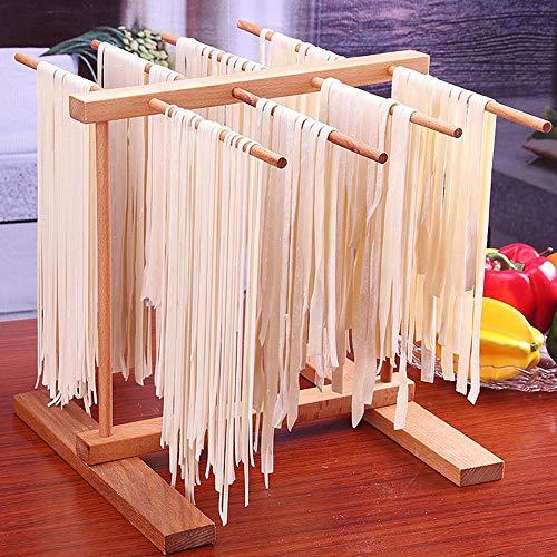 CULER Zusammenklappbar Aus Holz Pasta Und Spaghetti Wschetrockner Ständer, Buche Natur Faltbare Absetzkipper Küche Nudeln Trocknungshalterung Einhängegestell