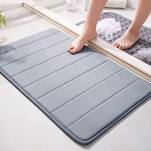 Memory Foam Bath Mat 15.5' X 23' Coral Velvet Super Non-Slip Rapid...