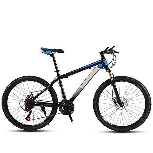 ndegdgswg Bicicleta de montaña de 24/26 pulgadas, color negro y azul, para adultos, todoterreno, velocidad variable, para deportes de carretera, para jóvenes, estudiantes, 24 pulgadas, 30 velocidades.