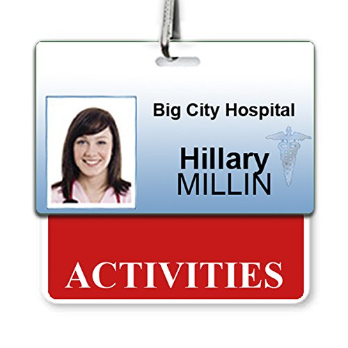 """""""Activities"""" Horizontal Badge Buddy with Red Border from Specialist ID, Sold Individually"""