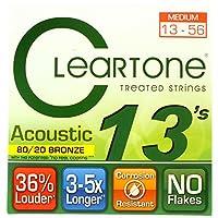 Cleartone 80/20 BRONZE アコースティックギター弦 ミディアムゲージ 013-056 (クリアトーン)