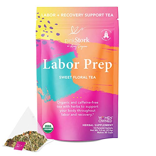 Pink Stork Labor Prep Tea: Sweet Floral, Red Raspberry Leaf Tea, Labor and...