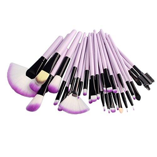 Rekkles 32pcs / Set pinceaux de Maquillage Set de Fard à paupières Poudre Cheveux Fibre Douce Fard à Joues Haute lumière Pinceau cosmétique Kit d'outils