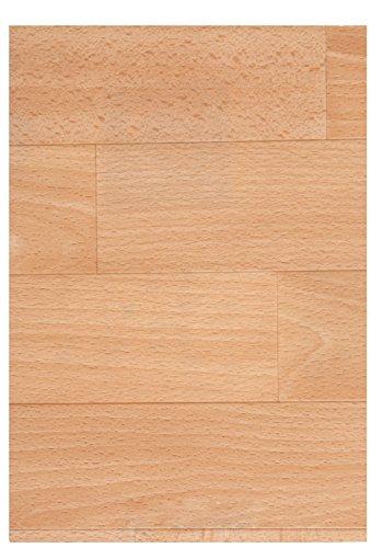 PVC Boden Vinyl Bodenbelag Holzdielen 1,2 mm Dicke Buche 450 x 400 cm. Weitere Farben und Größen verfügbar