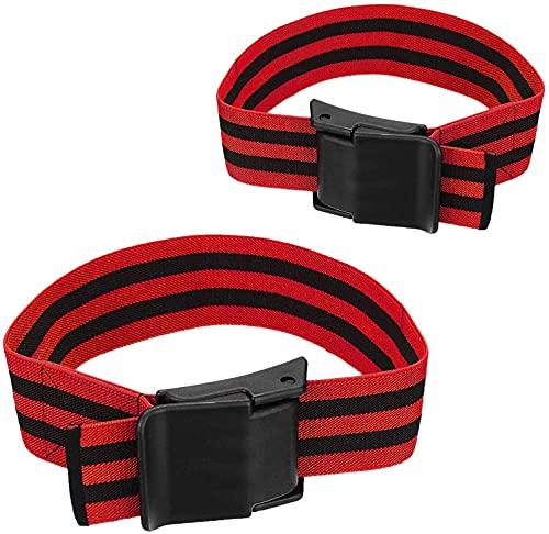 Bande per allenamento occlusionale, comode fasce elastiche per restrizioni del flusso sanguigno per allenamento e crescita muscolare rapida senza sollevare pesi pesanti (#01)