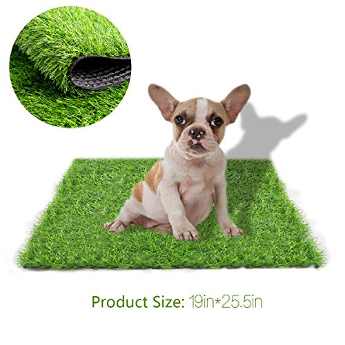 Artificial Grass Rug Turf for Dogs Indoor Outdoor Fake Grass for Dogs Potty Training Area Patio Lawn Decoration (23.62 inches x 19.68 inches)
