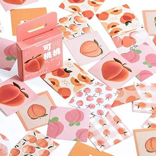 BLOUR Mohamm 46Pcs Schöne Pfirsich Serie Aufkleber Dekoration Scrapbooking Papier Kreative stationäre Schulbedarf