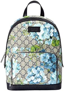 Unisex Beige/Blue Bloom GG Coated Canvas Small Backpack with Box 427042 8493