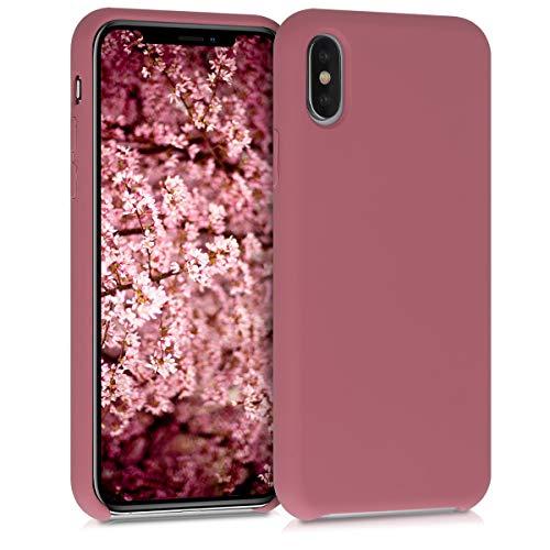 kwmobile Hülle kompatibel mit Apple iPhone XS - Hülle Silikon gummiert - Handyhülle - Handy Hülle in Deep Rusty Rose