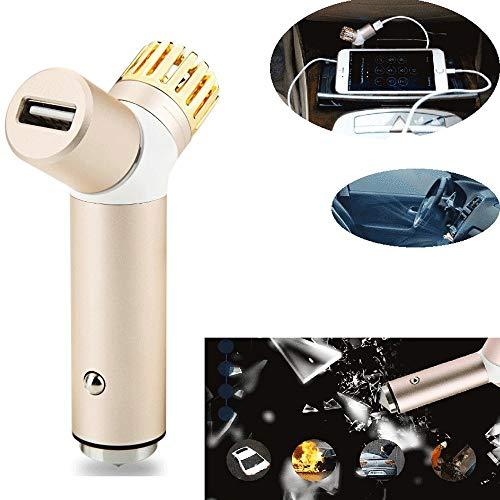 ZZKJTYMZKJ Luchtreiniger met negatieve ionen, auto-luchtreiniger, snellader, hamer voor gebroken ramen, naast formaldehyde-geur B