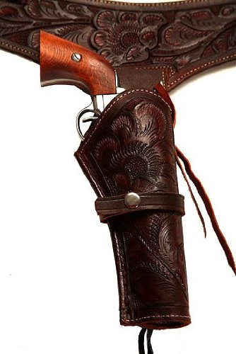 44/45 Caliber Brown Leather Gun Holster Size 42