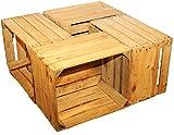 4 Pièces en bois massif-weinkisten obstkisten caisse en bois naturel