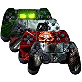 SubClap 4 Packs PS4 Controller Skin, Vinyl Decal Sticker Cover for Sony Playstation 4 DualShock 4 Wireless Controller