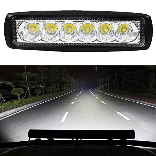 18 W IP67 LED Arbeitsscheinwerfer, Flutlicht, Nebelscheinwerfer, Geländewagen, Geländewagen, für SUV, Auto, LKW, Anhänger, Traktor, UTV, Fahrzeug, weiß