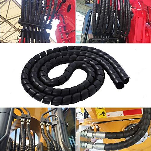 Kit de cables 1M Cable Protector Espiral Envoltura Sleeve Cable FlameRetardant Decorative...
