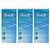 3 x Super encerado hilo dental 50 hebras braces puente amplio espacio dientes orales