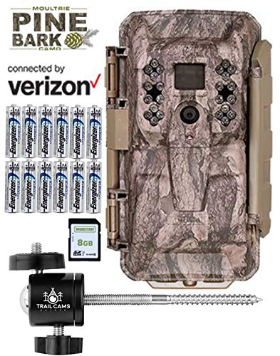Moultrie XV-6000 Verizon Cellular Trail Camera with Batteries, SD Card, Mount, 3 Year Warranty (Verizon (XV-6000))