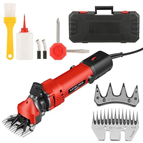 Vogvigo 850W Electric Sheep Shears Animal Shears Portable Sheep Clippers with 6 Speed Adjustable Electric Shearing Machine for Sheep Goat Llama Lamb Horse Alpacas Thick Coat Hair Fur Grooming