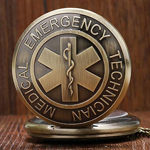 YHWW Reloj de bolsill oInsignia de paramédico médico de Emergencia S