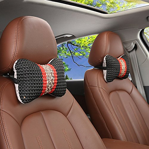 Black ComfyWay Car Neck Support Pillow for Driving Headrest Cushion for Car Seat with Soft Memory Foam