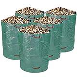Schramm 5 Stück Gartensäcke 300L Grün Robusten Polypropylen Gewebe PP Gartensack Garten Sack Säcke Big Bag 5er Pack